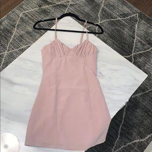 Superdown nude mini dress size XS